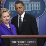 Secretary of State Clinton steps to the podium as President Obama introduces her to speak at the White House in Washington