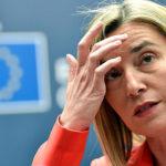 Федерика Могерини на саммите ЕС в Брюсселе