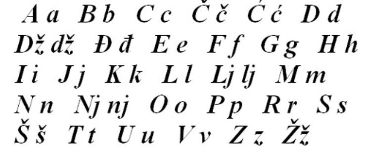 hrvatska-latinica