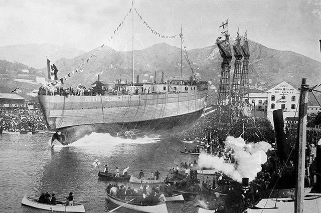 Спуск на воду линко «Giulio Cesare» 1911 год