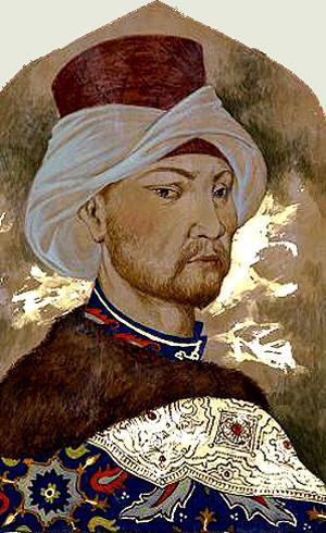 Давлет Гирей. 14-й хан Крымского ханства. В 1571 году один из походов, осуществлённый его 40-тысячным войском при поддержке Османской империи и в согласовании с Польшей, закончился сожжением Москвы, за что Девлет I получил прозвище Taht Alğan – Взявший Трон.
